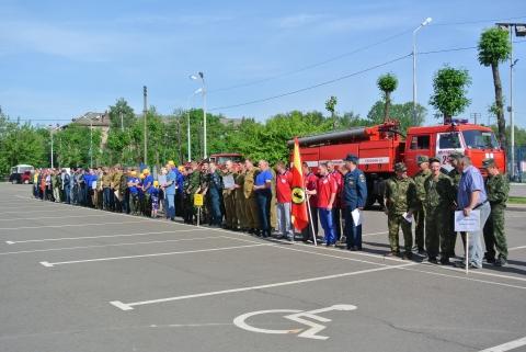 Областные соревнования по пожарно-прикладному спорту среди добровольных пожарных команд в Ярославле.