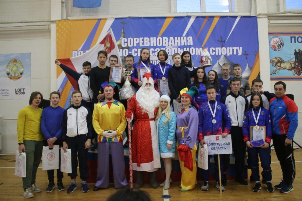 Соревнования по пожарно-спасательному спорту среди детей и молодежи на Кубок Деда Мороза «Вологодская зима»